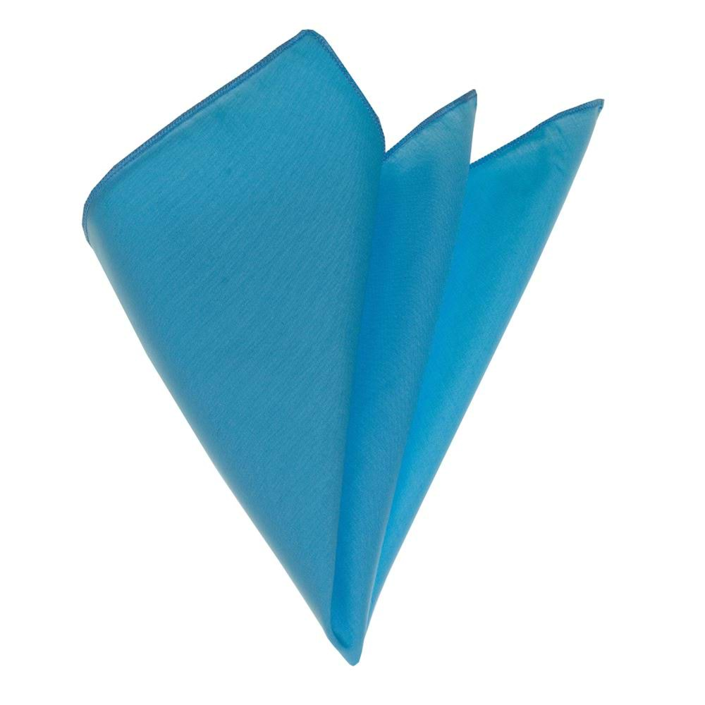 Turquoise Solid Classical Pocket Square