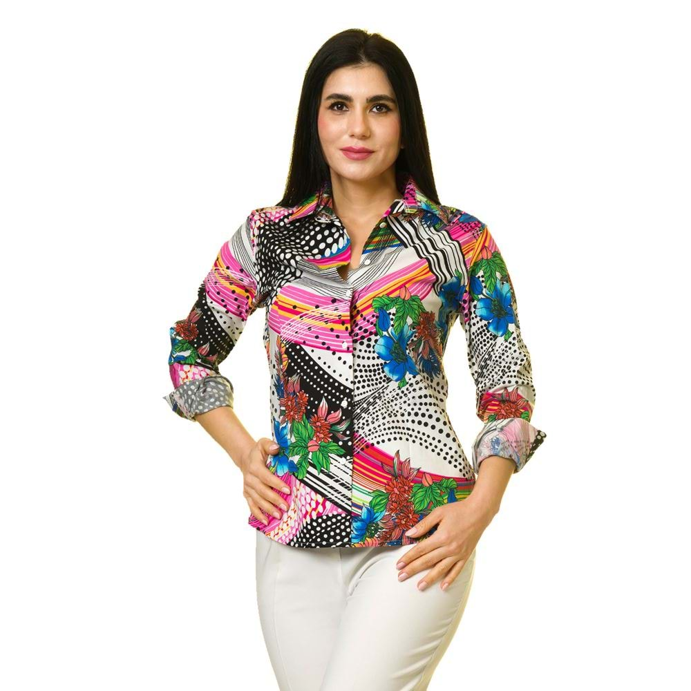 Colorful Digital Printed Designer Women's Shirt