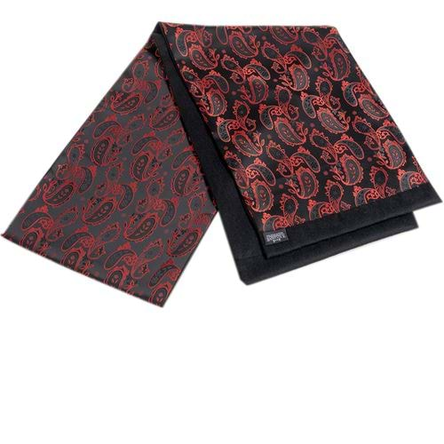 Red Paisley Mens Scarf