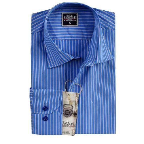 Blue Striped Slim Fit Mens Shirt
