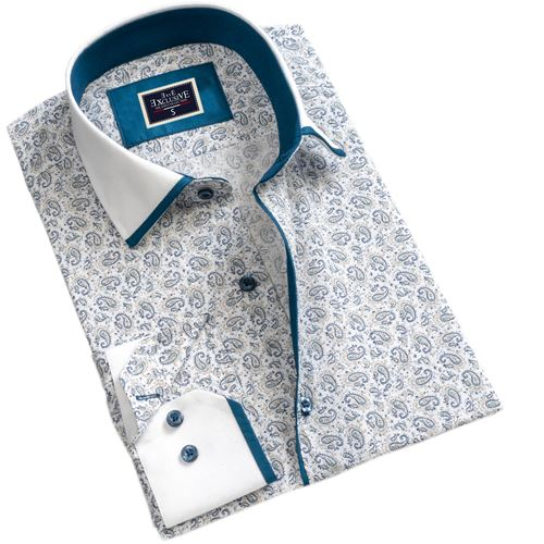 White Paisley Men's Shirt