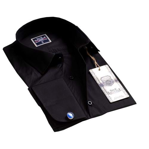 Black French Cuff Shirt