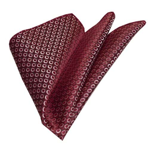 Burgundy Geometrical Pocket Square