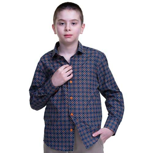 Orange Kids Dress Shirt