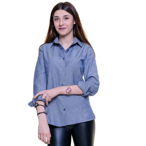Blue Washed Women's Shirt